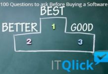 100 Questions to ask Before Buying a Software