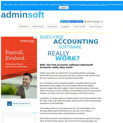 Adminsoft Accounts Pricing