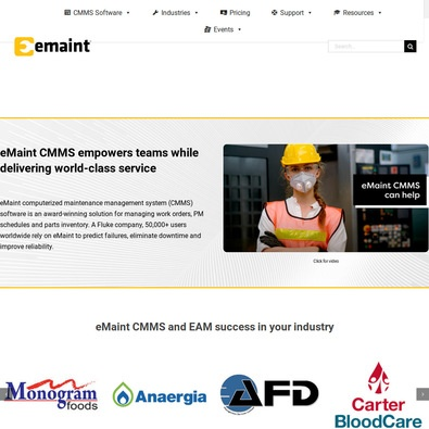 eMaint CMMS review