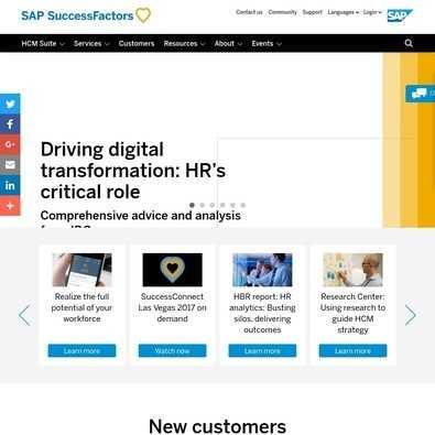 Sap Events 2020.Sap Successfactors 2020 S Best Alternatives Itqlick