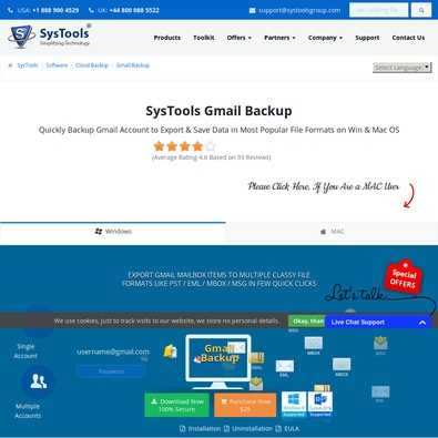 Gmail Backup review