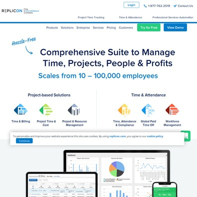 Replicon Project and Program Management review