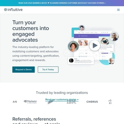 Influitive - Pricing & Cost (Apr 2018) | ITQlick