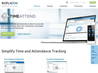Replicon TimeAttend Vs. TimeLive Time Tracking Software