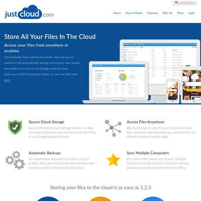JustCloud Backup Pricing