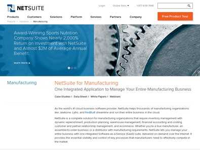 NetSuite Manufacturing Edition review