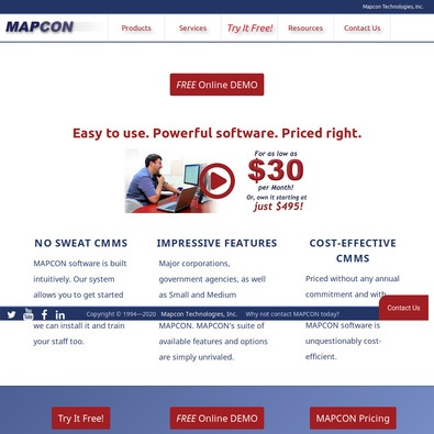 MAPCON CMMS review